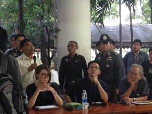 Academics  were reportedly held and interrogated for a number of hours at a police station