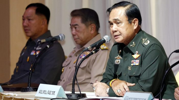 Gen. Prayuth Pledges Reforms to Make Thailand Just and Corruption Free