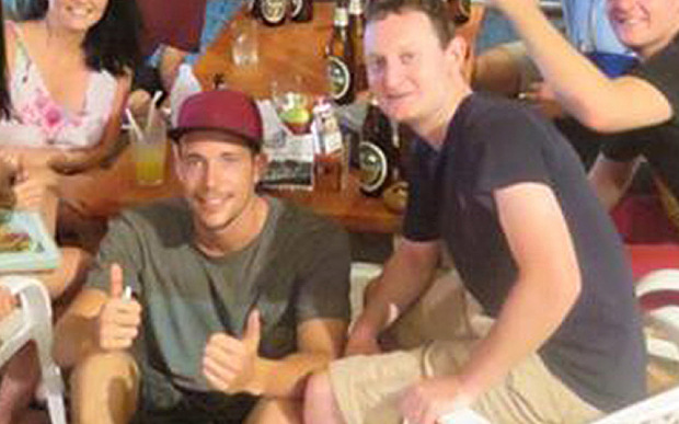 Murdered backpacker David Miller, pictured with friend Christopher Ware