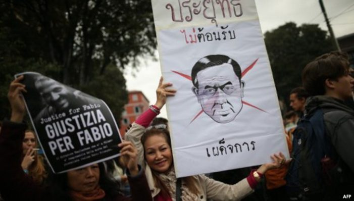 Protesters Picket Prime Minister Prayut Chan-ocha's at Asia-Europe Meeting in Italy