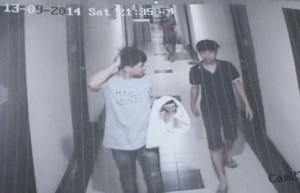Photograph from CCTV footage that showed Mr. Warot at his university and residence in Bangkok on 13-15 September.