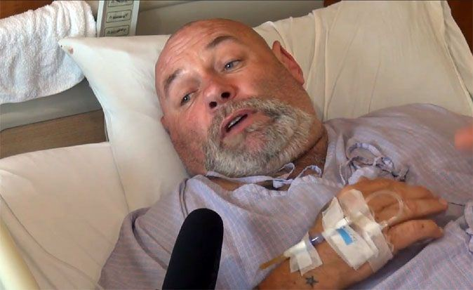 Paul Goudie recovers in a Phuket hospital