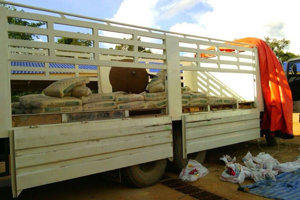 The heavy truck with a false compartment holding 655 packages of heroin, a total of 232 kilogrammes of the drug