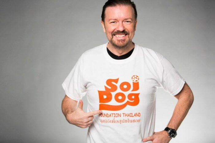 Ricky Gervais and Judi Dench Back Soi Dog Foundation Campaign to Stop Dog Meat Trade