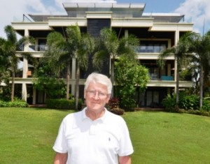 Melbourne retiree Daryl Davies outside the Chom Tawan residential development on Phuket's west coast. He and other buyers face eviction