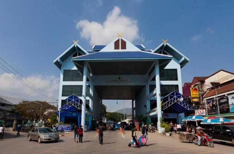 Mae Sai Border crossing, the most Northern point of Thailand
