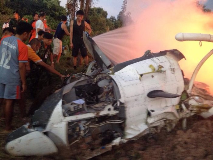 Army Bell Helicopter Crashes and Burns in Phayao, Nine Dead