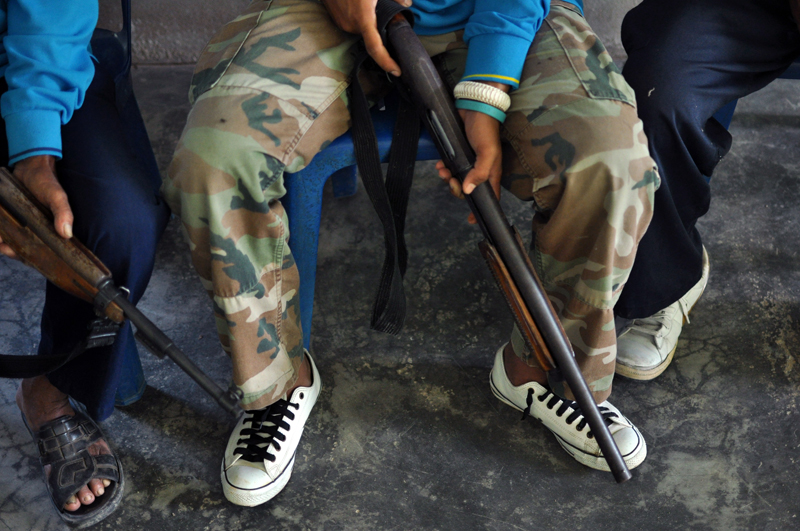 """""""They need weapons for self-defence... they can't fight with just wooden sticks,"""" ISOC spokesman Colonel Banphot Phunphien said."""