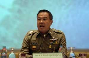Thai national police chief Somyot Poompanmoung speaks during a press conference at the police headquarters in Bangkok - See more at: http://www.themalaymailonline.com/world/article/thailand-considering-police-conscription#sthash.ULJK9Nox.dpuf