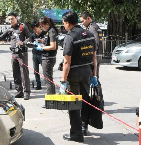 Forensic Police were called to Soi Sukhumvit 13