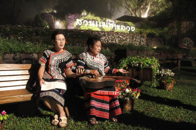 Hilltribes living in the Doi Tung Development Project will provide the entertainment at the dinner.