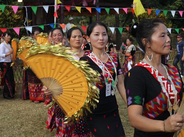 Kachin People in Chiang Dao Mark Kings Birthday with Manau Festival