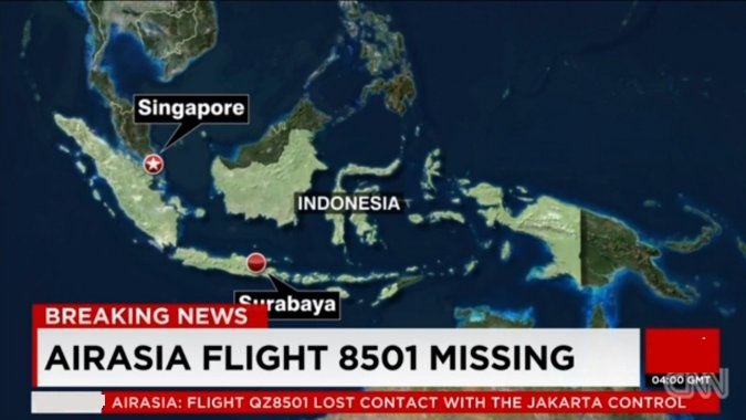 AirAsia Flight QZ 8501from Indonesia to Singapore Missing
