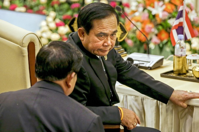 Thai coup leader Prayuth Chan-ocha is consolidating power but playing his cards close to his chest, giving few if any signs of a return to democratic rule