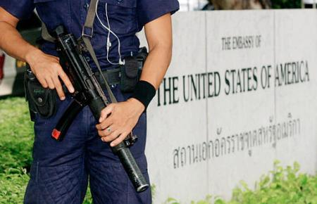 Tightened Security a US Embassy in Bangkok