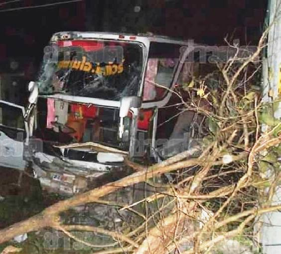 Bus driver killed on Chiang Rai - Chiang Mai Highway