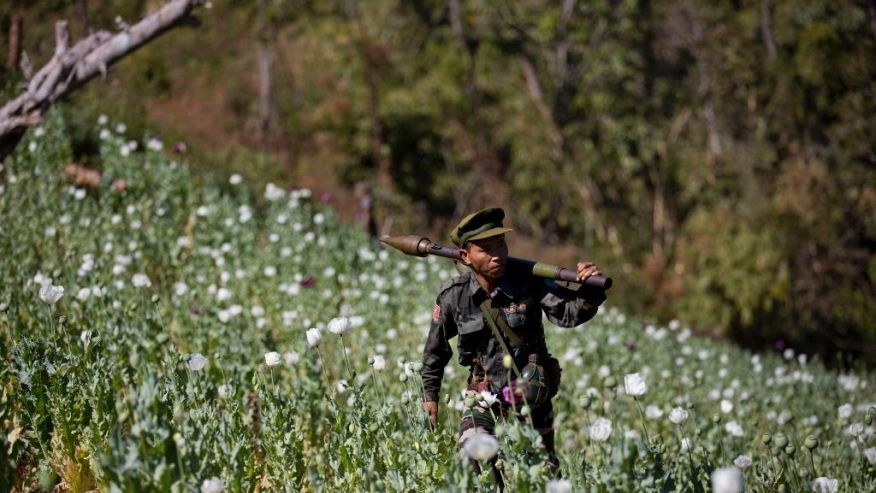 United States officials have long maintained that the Shan State Army South is involved in the drug trade
