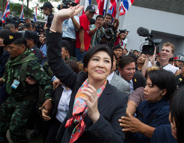 """Ms. Yingluck, elected in a landslide in 2011, described the timing of the impeachment case as """"weird"""" given that the military seized power last May and she holds no political title."""