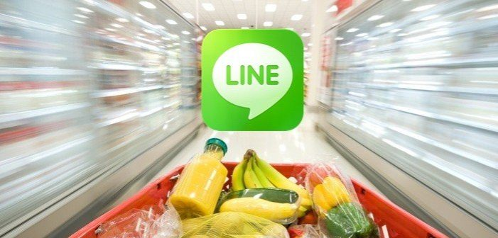 Line App to Offers Groceries with Delivery in Thailand