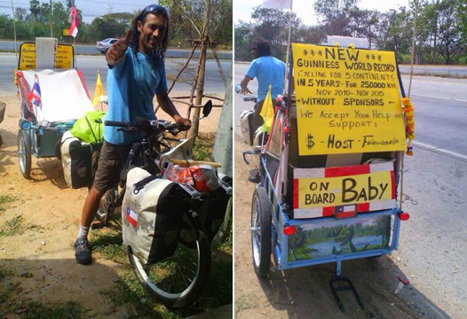 Chilean Cyclist's Juan Francisco Guillermo Killed by Wreckless Driver in Northeastern Thailand