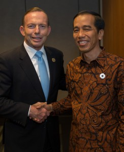 Australia's Prime Minister Tony Abbott and Indonesia's President Joko Widodo