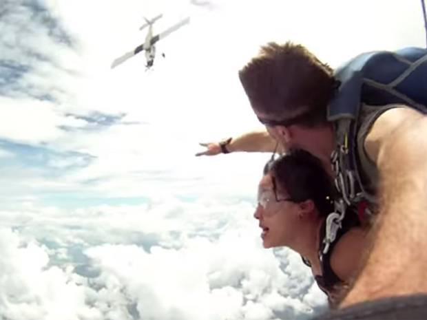Video of Near Death Airplane Collision with Skydivers in Thailand Goes Viral