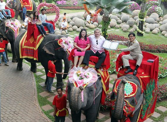 Wedding Registration on Elephants ceremony is held on Valentine's day