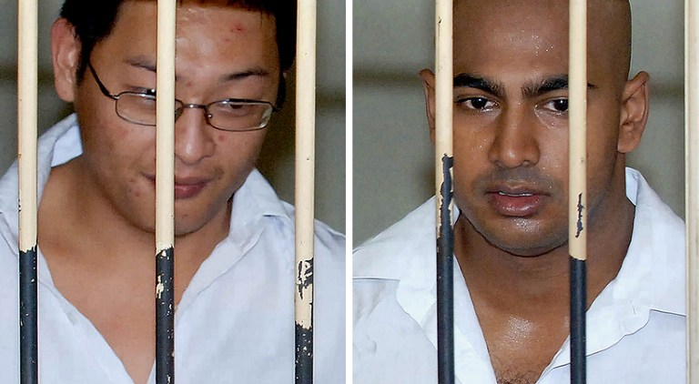 "Myuran Sukumaran and Andrew Chan, the Australian ringleaders of the so-called ""Bali Nine"" drug smuggling gang"