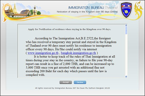 Thai Immigration's 90 Day Online Visa Reporting, Takes Effect in April