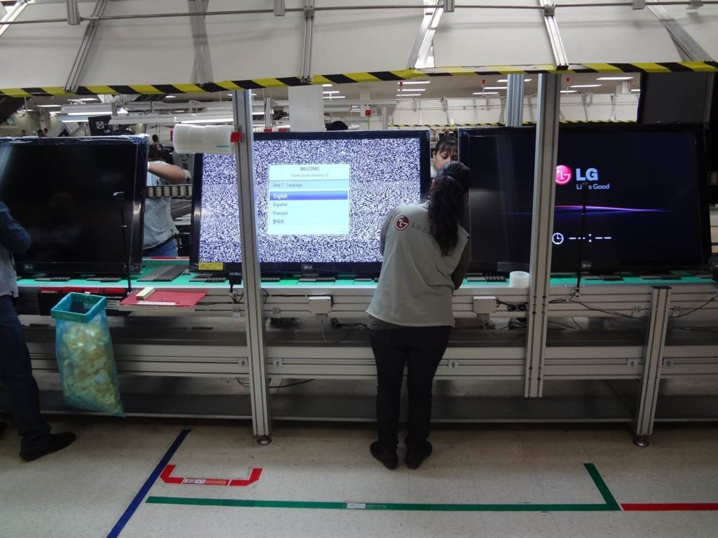 LG produces about 600,000 television sets a year in Thailand worth 8bil baht