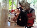 This and other images of Chinese tourists washing their feet and sandals in hand basins at a Koh Phi Phi national park were shared and lambasted more than 100,000 times on Facebook and Twitter in the past day.