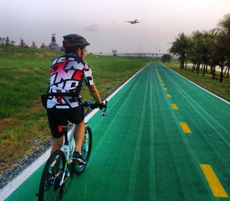 a bicycle route could be added to Mae Fah Luang international airport