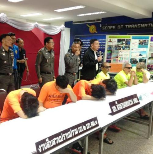 Thai Immigration Parades Foreigners in Front of the Press