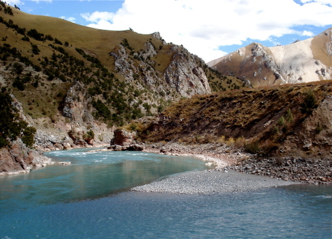 The Mekong River (pictured above) has its headwaters in Dzado county in the Kham region of Tibet