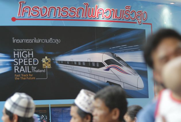 Poster Promoting High speed Trains
