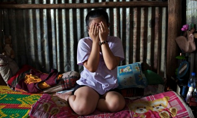 When the girl was on the way back home, the four teens grabbed her and dragged her to a hut in a rice field about 700 me­ters away from her house, and they took turns raping her