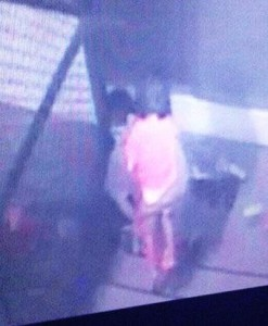 The girl is seen being carried out of the hospital in an image from the security camera. (Photo by Piyarach Chongcharoen)