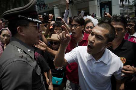 Anti Prayuth Protesters Arrested in Bangkok