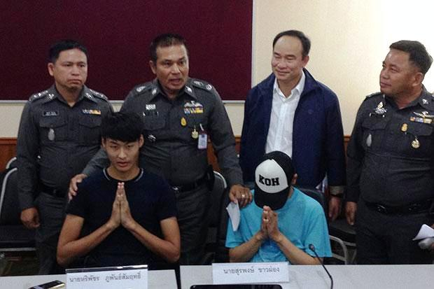 It took about a week to track down and arrest Hariphat Phuphansamrit and Surapong Khaophong.
