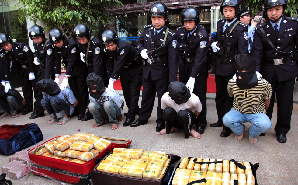 Authorities bust a gang of drug traffickers in Yunnan province, which borders the Golden Triangle