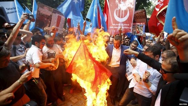 Thai Consulate in Istanbul,Turkey Attacked after Deporting Uighurs to China