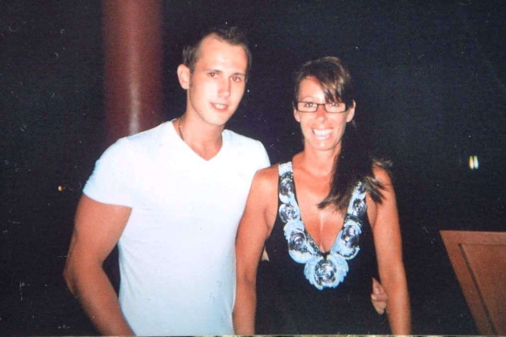 Lance with his mother, Debbie Caswell