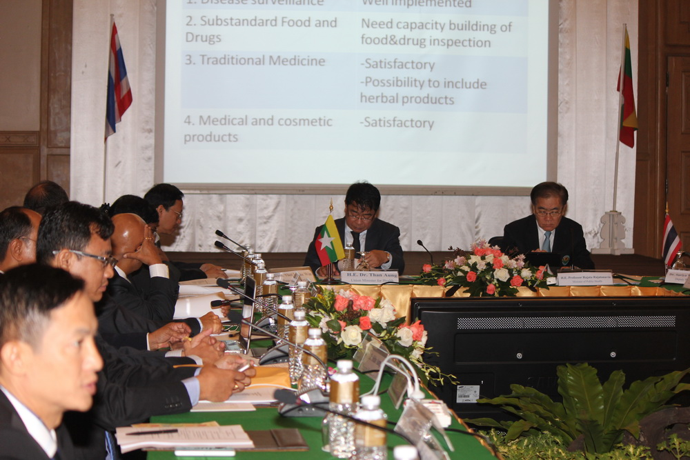 Public Health Minister Rajata Rajatanavin today co-chaired the opening ceremony of the 2nd Myanmar-Thailand Health Collaborative Ministerial Meeting