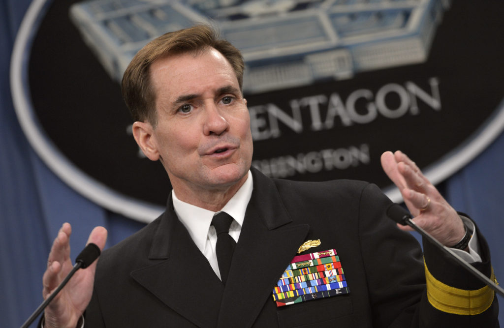 U.S. State Department Press Secretary Navy Rear Adm. John Kirby