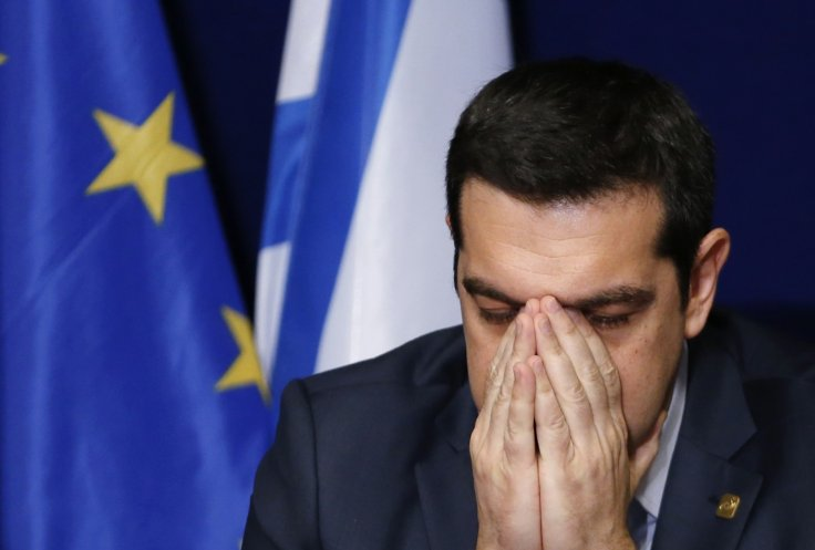 Greek Prime Minister Alexis Tsipras at a meeting in Brussels ahead of a Eurozone emergency summit on Greece