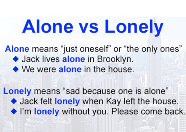 Jen's English Tip's – Alone – Lonely – Lone