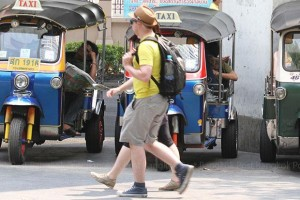 "tuk-tuk drivers telling foreign tourists that famous attractions, such the Grand Palace, are ""closed,"" and then offering the tourists discounted rides around the city"