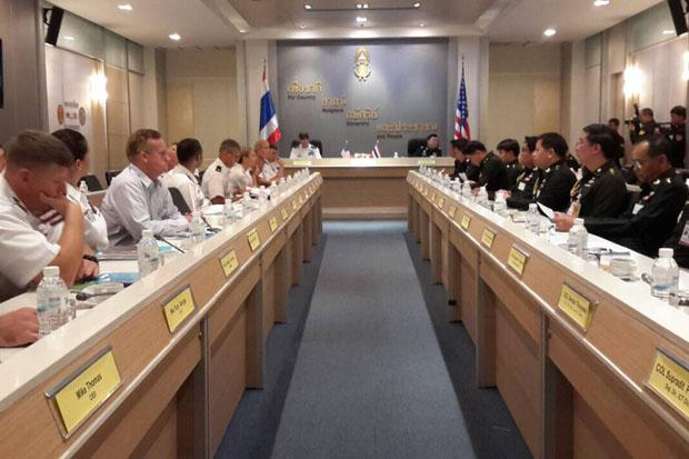 Thai-American middle level miltary talks on joint activities and cooperation get underway in Bangkok on Tuesday. They are scheduled to run from July 21-24. (Army photo)