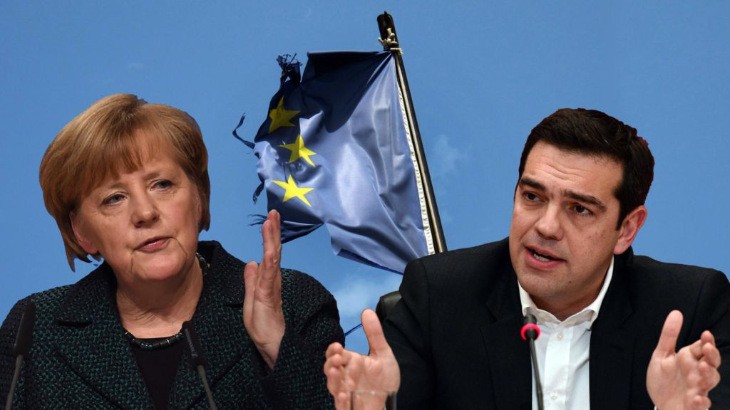 German chancellor Angela Merkel says it is up to Greece to secure its place in euro