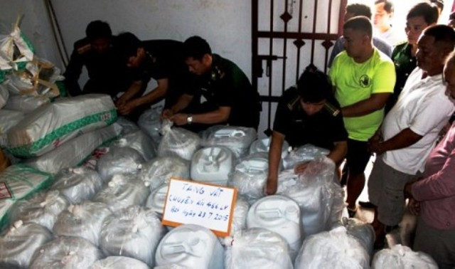 Vietnam and Laos Authorities Bust Thai Drug Lord, 5.5 Tons of Drugs Seized